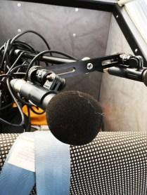 Platzsparender Aufbau (?!) eines Mikrofonpärchens