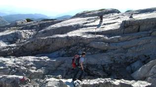 Auch am Panoramaweg ist Klettern angesagt.