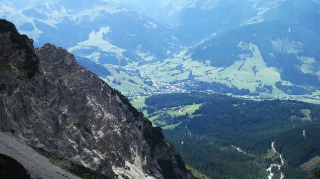 Blick auf's Tal runter in der Nähe des Riemannhauses, kurz vorm Abstieg
