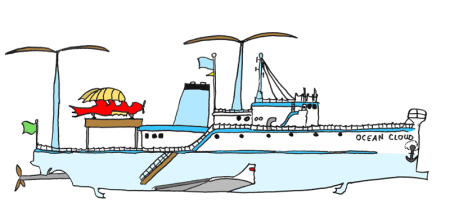 Konzeptzeichnung »Ocean Cloud«: Dieser frühe Entwurf zeigt das mobile Zuhause der Diebesbande